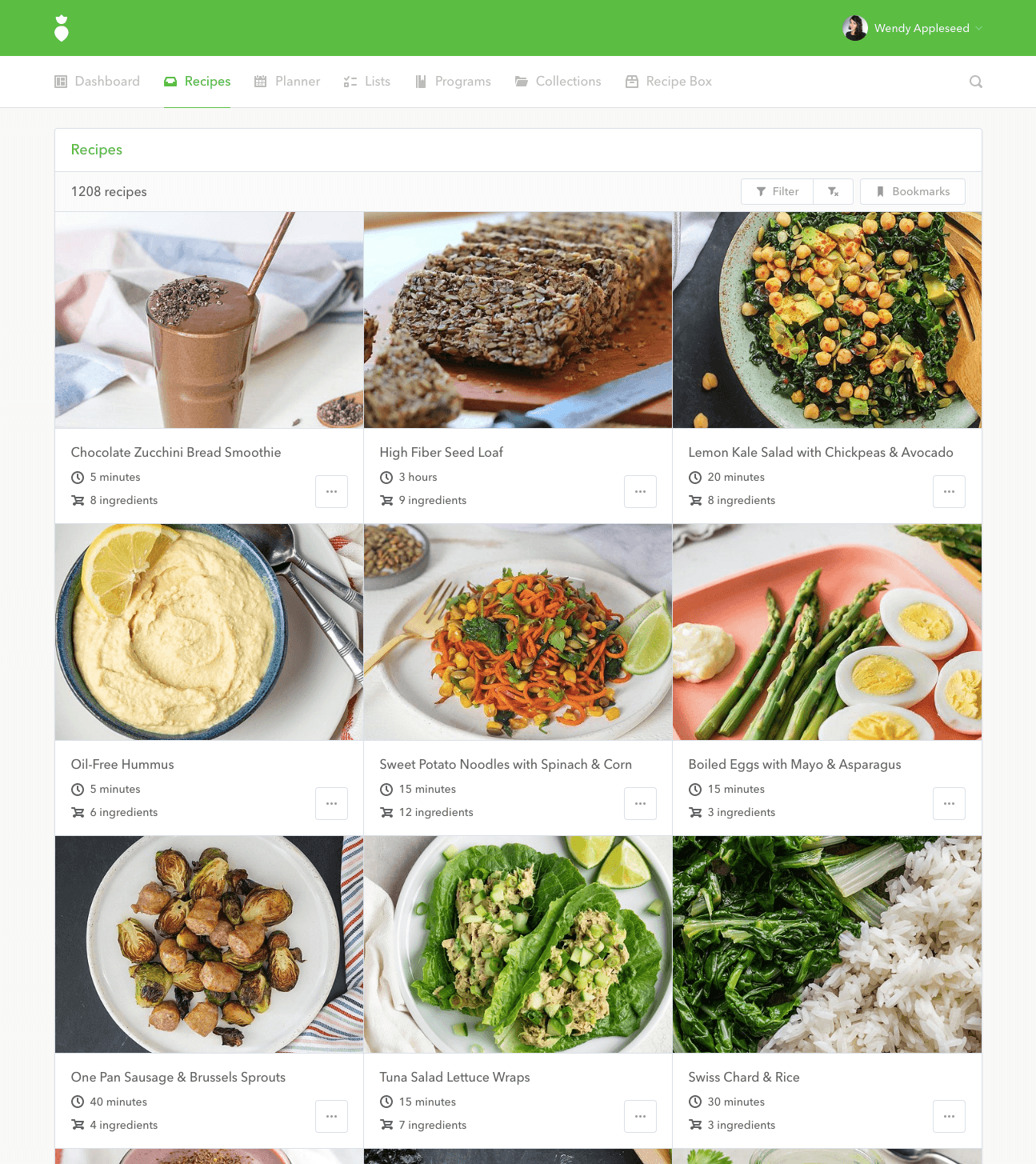Features recipes
